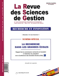 Alain Storck et Alain Le Méhauté - La Revue des Sciences de Gestion N° 235, Janvier-févr : La recherche dans les grandes écoles.