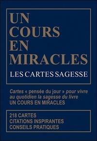 Octave éditions - Un cours en miracles - Les cartes sagesse.