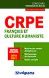 Odile Aubert et Isabelle Roque - CRPE français et culture humaniste.