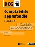 Odile Barbe et Laurent Didelot - Comptabilité approfondie DCG 10 - Corrigés des applications.