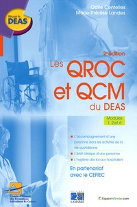 Odile Centelles et Marie-Thérèse Landes - Les QROC et QCM du DEAS - Modules 1, 2 et 6.