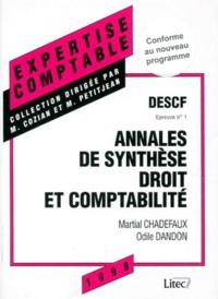 DESCF EPREUVE N° 1 SYNTHESE DROIT ET COMPTABILITE. Annales, 7ème édition.pdf
