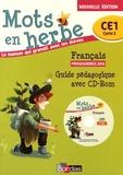 Odile Grumel - Français CE1 Mots en herbe - Guide pédagogique. 1 Cédérom