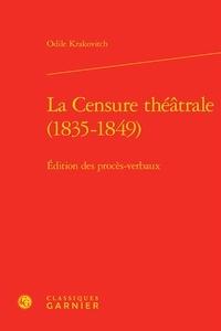 Accentsonline.fr La censure théâtrale (1835-1849) - Edition des procès-verbaux Image