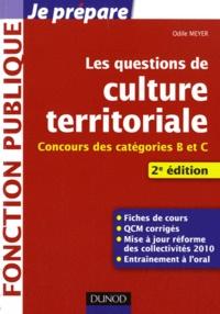 Odile Meyer - Les questions de culture territoriale - Concours des catégories B et C.