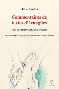 Odile Ponton - Commentaires de textes d'évangiles.