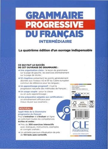 Grammaire progressive du français A2-B1 Intermédiaire. Corrigés, + 450 nouveaux tests et activités en ligne 4e édition