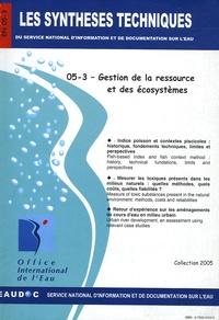 Office international de l'eau - Gestion de la ressource et des écosystèmes.