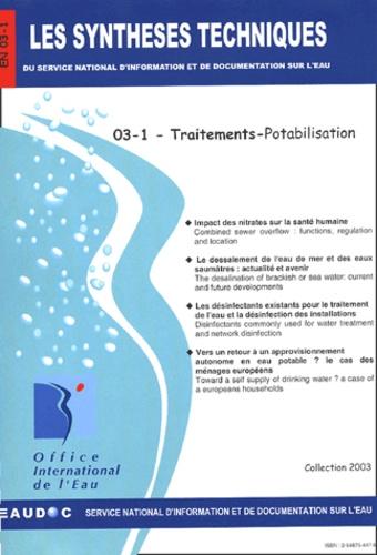 Office international de l'eau - Traitements - Potabilisation.