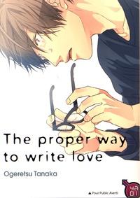 Ogeretsu Tanaka - The proper way to write love.