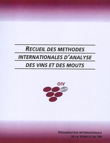 OIV - Recueil des méthodes internationales d'analyse des vins et des moûts en 2 volumes.