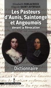 Pasteurs dAunis et de Saintonge devant la Révocation - Dictionnaire.pdf