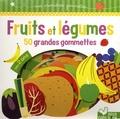 Olivia Cosneau - Fruits et légumes - 50 grandes gommettes.