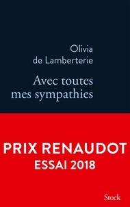 Olivia de Lamberterie - Avec toutes mes sympathies.