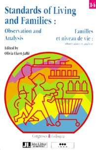 Olivia Ekert-Jaffé - Standards of living and families - Observation and analysis, [seminar, Barcelona, 29-31 October 1990.