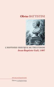 Olivier Battistini - L'histoire grecque de Thucydide.