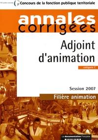 Olivier Bellégo - Adjoint d'animation, catégorie C, filière animation - Annales corrigées.