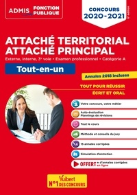 Olivier Bellégo - Concours Attaché territorial - Catégorie A - Tout-en-un - Concours externe, interne, 3e voie et examen professionnel 2020-2021.