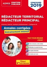 Olivier Bellégo - Concours Rédacteur territorial et rédacteur principal - Annales corrigées - Catégorie B - Concours externe, interne et 3e voie - Concours 2019.