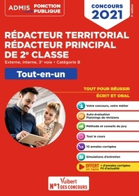 Olivier Bellégo - Concours Rédacteur territorial et Rédacteur principal de 2e classe - Catégorie B - Tout-en-un - F... - Externe, interne, 3e voie - Concours 2021.