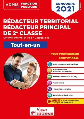 Concours Rédacteur territorial et Rédacteur principal de 2e classe. Externe, interne, 3e voie, catégorie B. Tout-en-un  Edition 2021
