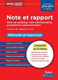 Olivier Bellégo - Note et rapport - Méthode et exercices catégories A et B.