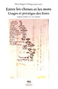 Entre les choses et les mots - Usages et prestiges des listes (espace roman, XVIe-XXIe siècles).pdf