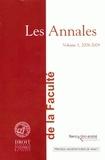 Olivier Cachard - Les Annales de la Faculté de droit, sciences économiques et gestion de Nancy - Volume 1, 2008-2009.