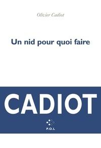 Olivier Cadiot - Un nid pour quoi faire.