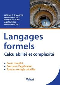 Olivier Carton - Langages formels - Calculabilité et complexité - Licence 3&Master - Agrégation.