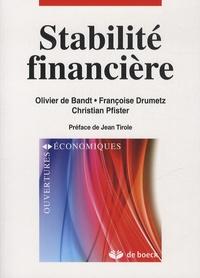 Olivier De Bandt et Françoise Drumetz - Stabilité financière.