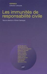 Olivier Deshayes - Les immunités de responsabilité civile.