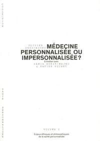 Olivier Dessibourg - Médecine personnalisée ou impersonnalisée ? - Enjeux éthiques et philosophiques de la santé personnalisée.