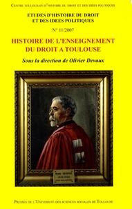 Olivier Devaux - Histoire de l'enseignement du droit à Toulouse.