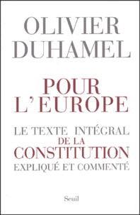 Pour lEurope - Le texte intégral de la Constitution expliqué et commenté.pdf