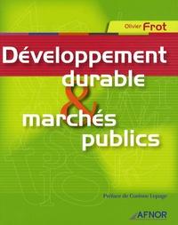 Olivier Frot - Développement durable et marchés publics.