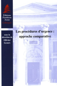 Les procédures d'urgence : approche comparative - Olivier Gohin | Showmesound.org