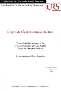 Olivier Jouanjan - L'esprit de l'Ecole historique du droit.