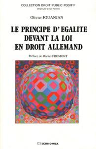 Olivier Jouanjan - Le principe d'égalité devant la loi en droit allemand.