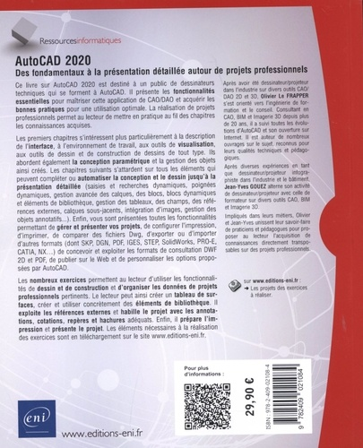 AutoCAD 2020. Des fondamentaux à la présentation détaillée autour de projets professionnels