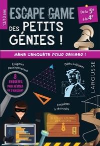 Olivier Lefebvre et Jean-Baptiste Civet - Escape game des petits génies de la 5e à la 4e.