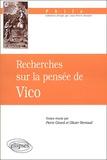 Olivier Remaud et  Collectif - Recherches sur la pensée de Vico.