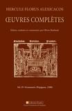 Olivier Rimbault - Hercule Florus alexicacos - Oeuvres complètes volume 2 : grammaire (perpignan, 1500).