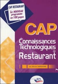 Olivier Sapelkine - CAP Connaissances Technologiques de Restaurant.