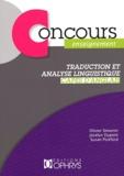 Olivier Simonin et Jocelyn Dupont - Traduction et analyse linguistique - CAPES d'anglais.