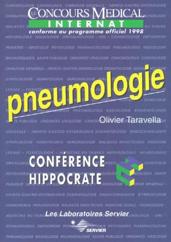 Olivier Taravella - PNEUMOLOGIE. - Edition conforme au programme officiel 1998 de l'internat.