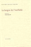 Olivier-Thomas Venard - Thomas d'Aquin, poète théologien - Volume 2, La langue de l'ineffable, Essai sur le fondement théologique de la métaphysique.