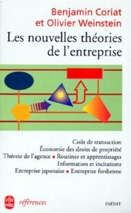 Olivier Weinstein et Benjamin Coriat - Les nouvelles théories de l'entreprise.
