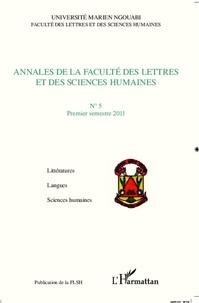 Omer Massoumou - Annales de la faculte des lettres et des sciences humaines n  5 premier trimestre 2011.