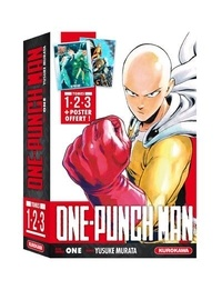 One et Yusuke Murata - One-Punch Man  : Coffret One-Punch Man - tomes 1 à 3 + poster.